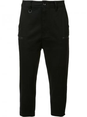Укороченные штаны Publish. Цвет: чёрный