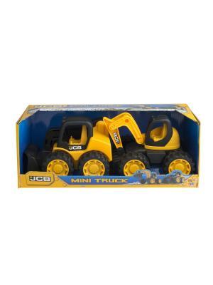 Набор JCB 18см 2 машинки (экскаватор и мини-погрузчик) HTI. Цвет: желтый