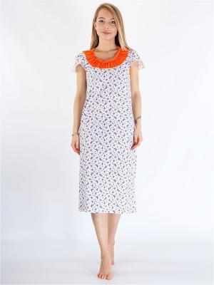 Ночная сорочка HELLO MODA!. Цвет: оранжевый