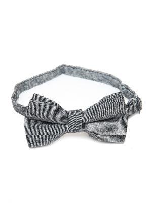Галстук-бабочка Churchill accessories. Цвет: серый, темно-серый, белый