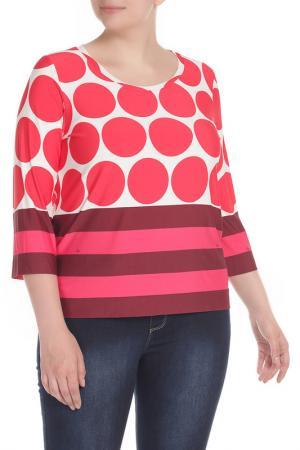 Блуза Clips. Цвет: красно-розовый