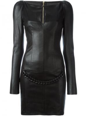 Платье мини Robstar Jitrois. Цвет: чёрный