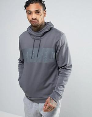 Jordan Худи с большим логотипом Nike 831342-021. Цвет: серый