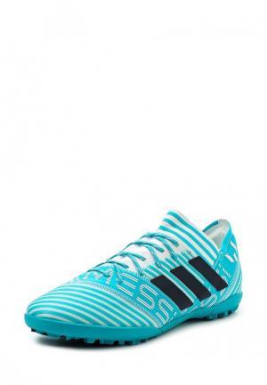 Шиповки adidas Performance. Цвет: голубой
