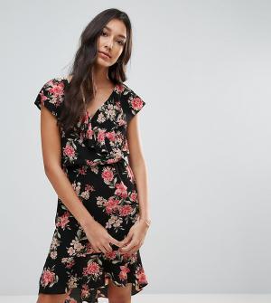 Oh My Love Платье с цветочным принтом и оборками Tall. Цвет: мульти