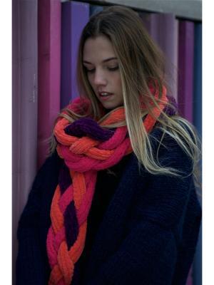 Шарф EMMY. Цвет: темно-фиолетовый, оранжевый