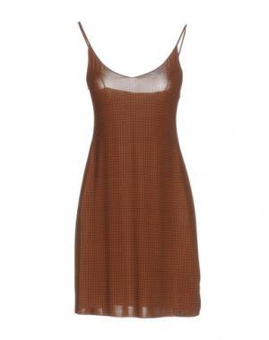 Короткое платье KRISTINA TI. Цвет: коричневый