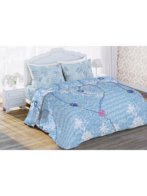 Постельное белье Любимый Дом. Цвет: голубой