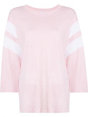Толстовка с контрастными полосками NSF. Цвет: розовый и фиолетовый