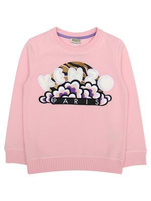 Толстовка Kenzo Kids. Цвет: розовый