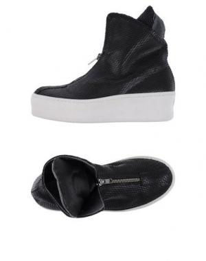 Высокие кеды и кроссовки UNLACE. Цвет: черный