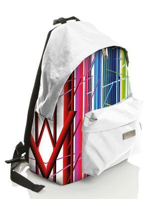 Рюкзак городской с водоотталкивающим покрытием Фестиваль Faber-Castell. Цвет: белый