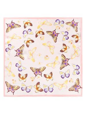 Платок Eleganzza. Цвет: коричневый, бледно-розовый, фиолетовый