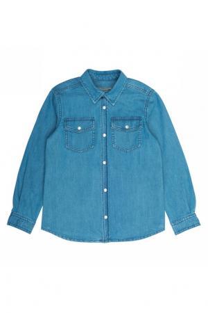 Джинсовая рубашка Elorado Bonpoint. Цвет: голубой