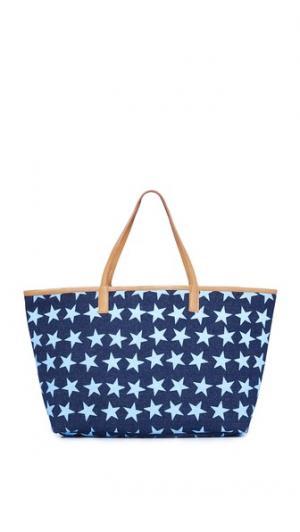 Объемная сумка с короткими ручками и звездами Mystique