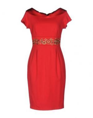 Короткое платье CHIARA D'ESTE. Цвет: красный