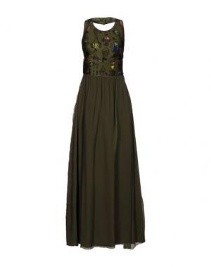Длинное платье KRISTINA TI. Цвет: зеленый-милитари