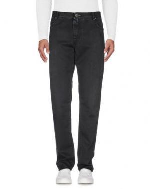 Джинсовые брюки LUIGI BORRELLI NAPOLI. Цвет: черный