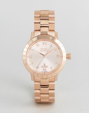 Vivienne Westwood Золотистые наручные часы VV152RSRS. Цвет: золотой