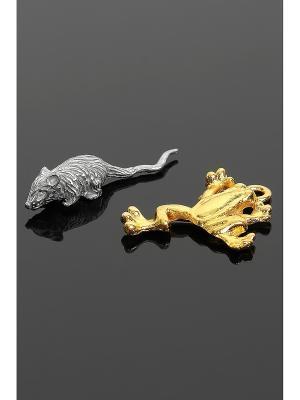Оберег для кошелька (Мышка, лягушка) Migura. Цвет: серебристый, золотистый