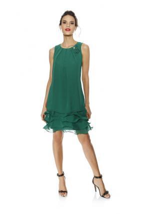 Коктейльное платье ASHLEY BROOKE by Heine. Цвет: зеленый, красный, черный