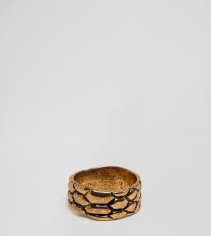 DesignB London Золотистое кольцо эксклюзивно для ASOS. Цвет: золотой