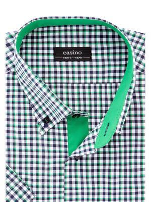Рубашки CASINO. Цвет: темно-синий, зеленый