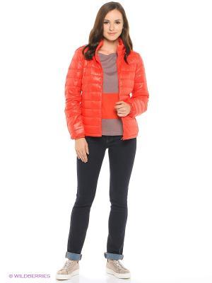 Куртка United Colors of Benetton. Цвет: красный, серый