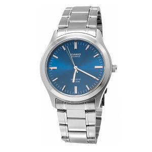 Часы  Collection Mtp-1200a-2a Silver/Blue Casio. Цвет: серый,голубой