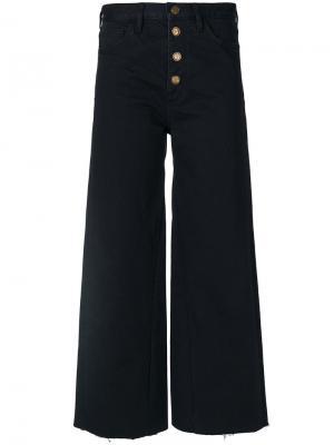Укороченные брюки Caron Mih Jeans. Цвет: чёрный