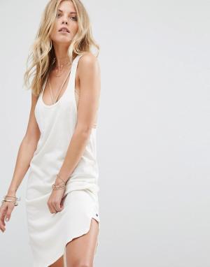 One Teaspoon Платье со спинкой‑борцовкой из переработанного хлопка Cal. Цвет: кремовый