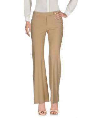 Повседневные брюки BORBONESE. Цвет: песочный