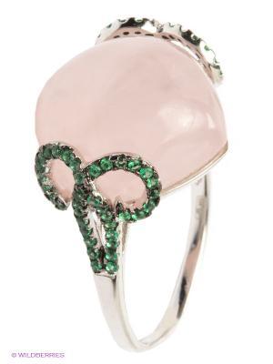 Кольцо BALEX. Цвет: бледно-розовый, зеленый