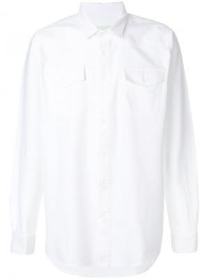 Рубашка Firetape Off-White. Цвет: белый