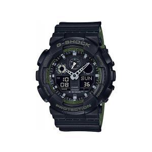 Электронные часы Casio G-shock Ga-100l-1a. Цвет: черный,зеленый