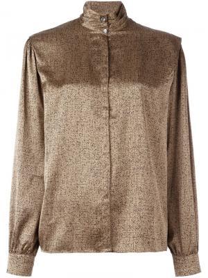 Классическая рубашка Louis Feraud Vintage. Цвет: телесный