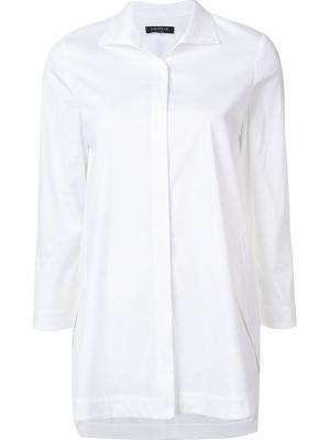 Рубашка классического кроя Lafayette 148. Цвет: белый
