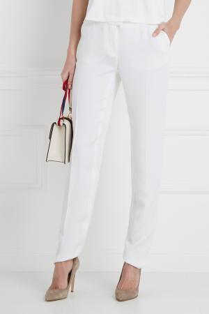 Однотонные брюки Pollini. Цвет: белый