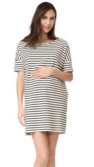 Платье Afternoon HATCH. Цвет: черный/белая полоска