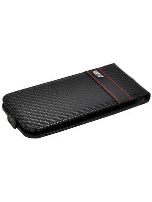 Чехол BMW для iPhone 6/6S M-Collection Flip Carbon Black. Цвет: черный