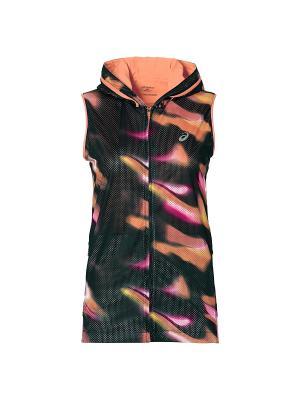 Жилет fuzeX SLV HOODIE ASICS. Цвет: черный, оранжевый, розовый