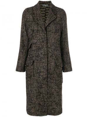 Приталенное строгое пальто Cotélac. Цвет: коричневый