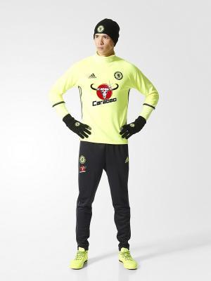 Джемпер муж. CFC TRG TOP  SYELLO/BLACK/GRANIT Adidas. Цвет: желтый, черный