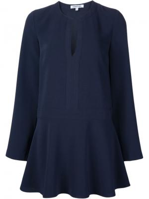 Мини-платье  с расклешенными рукавами Elizabeth And James. Цвет: синий