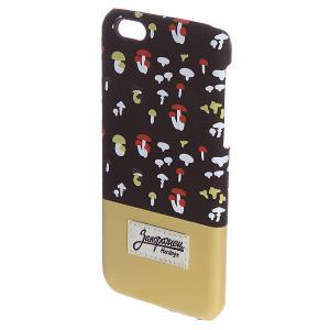 Чехол для iPhone  6 Грибочки Brown/Sand Запорожец. Цвет: коричневый,бежевый