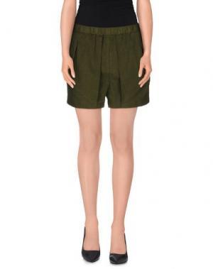 Повседневные шорты POMANDÈRE. Цвет: зеленый-милитари