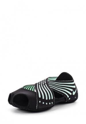 Балетки Nike. Цвет: черный