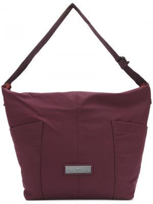 Спортивная сумка-хобо на плечо Adidas By Stella Mccartney. Цвет: розовый и фиолетовый