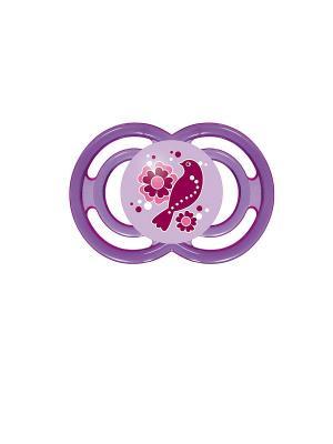 Пустышка силиконовая MAM Perfect, 1 шт., 6+ мес.. Цвет: фиолетовый