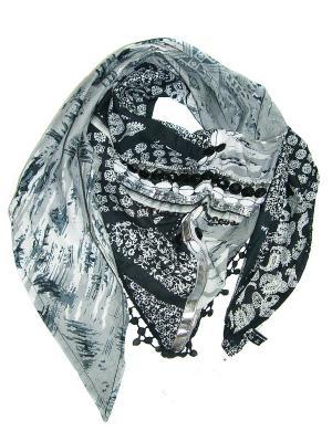 Платок Passigatti. Цвет: серый, черный
